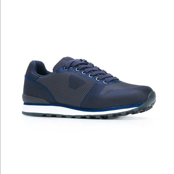 New Blue Emporio Armani Mens Sneaker